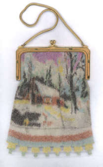 Whiting and Davis Scenic Mesh Purse