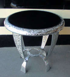Art Deco Chrome Table