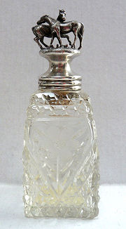 Figural Sterling Cut Crystal Perfume