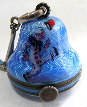 Figural Enamel Guilloche Ball Watch