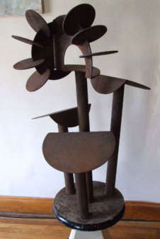 Modernist Iron Sculpture