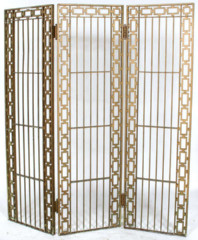 3 Panel Pierced Iron Screen