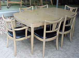 Paul Frankl Dining Table and Chairs