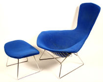 Bertoia Bird Chair and Ottoman. Click on image for another view of chair.