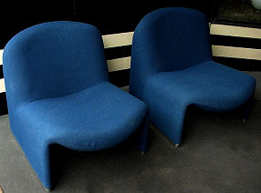 Pair of Giancarlo Piretti Lounge Chairs