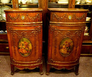 Ornate Carved Pier Cabinets
