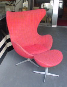 Arne Jacobsen for Fritz Hansen Egg Chair and Ottoman