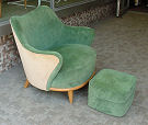 Heywood Wakefield Tub Chair and Ottoman