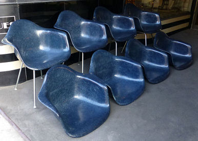 Eames Midnight Blue Shell Arm Chairs