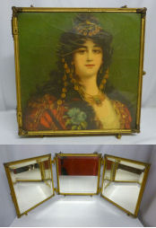 Victorian Beveled Portrait Mirror
