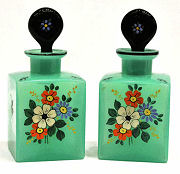 Pair of Czech Vanity Bottles