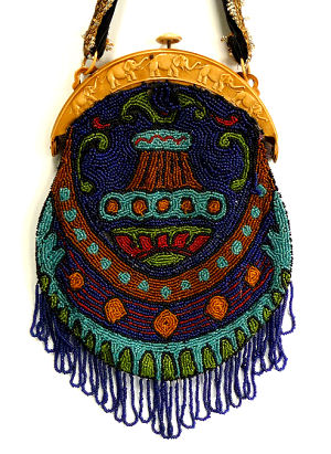 Elephants Beaded Purse