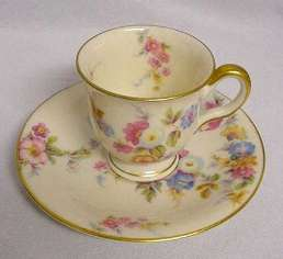 Castleton China Demitasse Cup and Saucer - Click for Enlarged Image