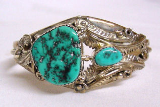 Sterling Silver and Turquoise Native American Bracelet