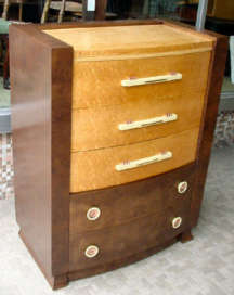 Art Deco Chest and Dresser by Berkey & Gay