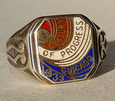 Sterling Silver 1933 Chicago Ring