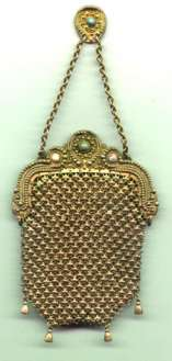 Sterling Silver Gold Overlay Purse
