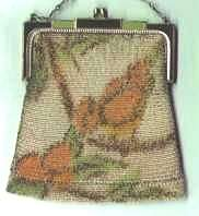 Whiting & Davis Mesh Purse with Bird