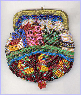 Scenic Beaded Child's Purse