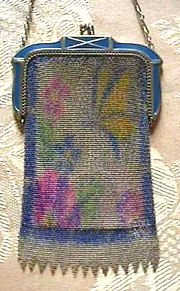 Whiting & Davis Figural Mesh Purse