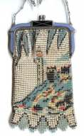 Whiting and Davis Lighthouse Scenic Mesh Purse - MINT