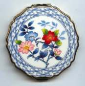 RARE Stratton Blue Delft Style Compact in Original Box with Original Paperwork - Mint! Unused
