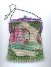Whiting & Davis Scenic Mesh Purse