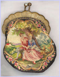 Child's Figural Petitpoint Purse