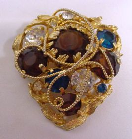 Hattie Carnegie Jeweled Brooch