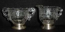 Chantilly Sugar and Creamer with Sterling Bases