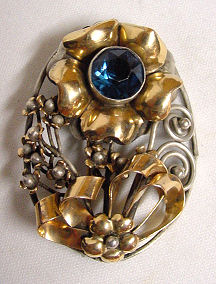 Hobe Jeweled Brooch