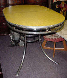 Yellow Formica Table - Click for Larger Image