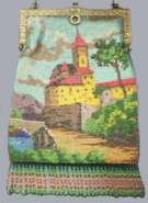 Venetian Micro-Beaded Castle with Multi-Color Fringe ~Dated 1926~
