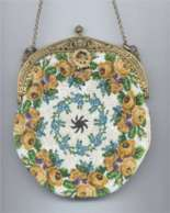 Piecrust Beaded Purse - 1800's