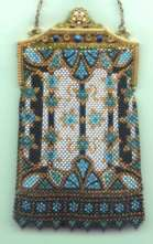 Mandalian 'Stained Glass' Mesh Purse with Jeweled Frame