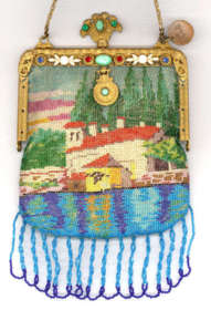 Scenic Castle Beaded Purse
