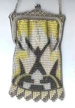 Art Deco Figural Mesh Purse attributed to Whiting and Davis