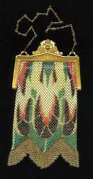 RARE Style Whiting and Davis Mesh Purse w/Gold Frame