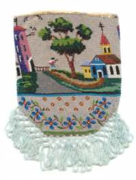 Figural Beaded Purse with Historical Provenance