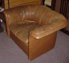 Leather Dunbar Club Chairs - Click for Enlarged Image