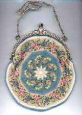 Romantic Victorian Piecrust Purse w/ Winged Griffin Figural German Silver Frame