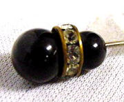 Jet Jeweled Hatpin