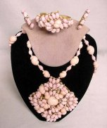 Miriam Haskell Pink Shell Parure