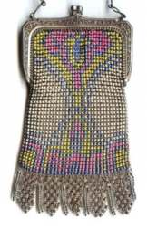Beadlite Mesh Purse with Double Style Fringe