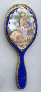Figural Enameled Mirror Compact