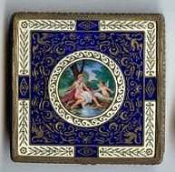 DECADENT Nude Sterling Vermeil Enameled Compact