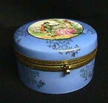 Porcelain Hand-Painted Dresser Box