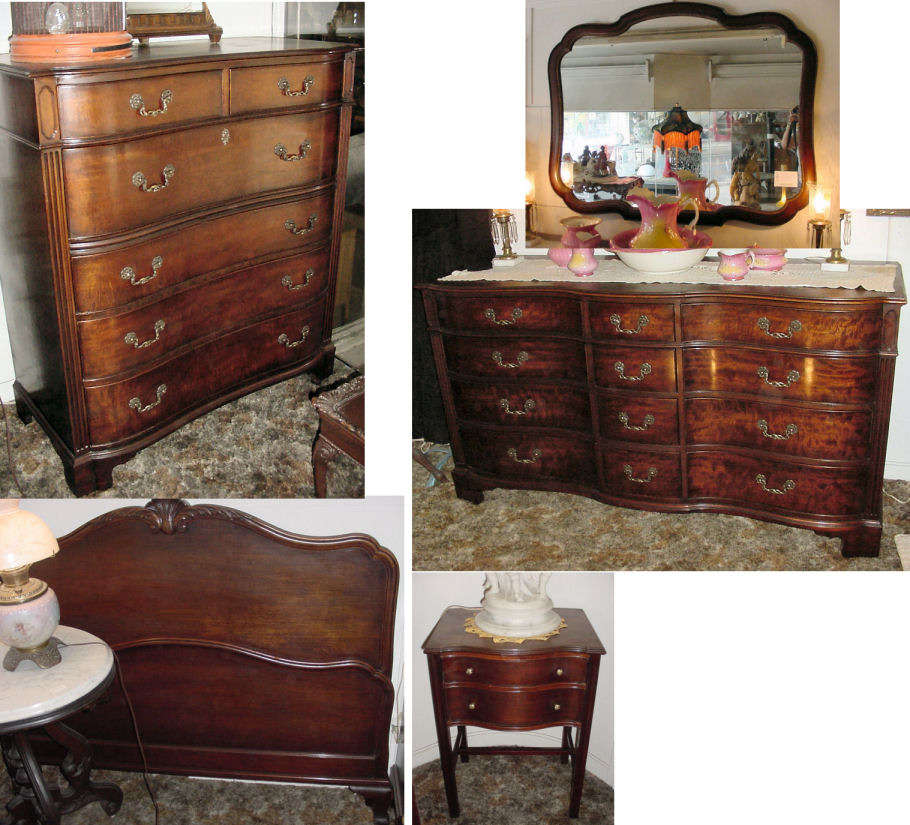Chippendale Mahogany Bedroom Suite by Kindel